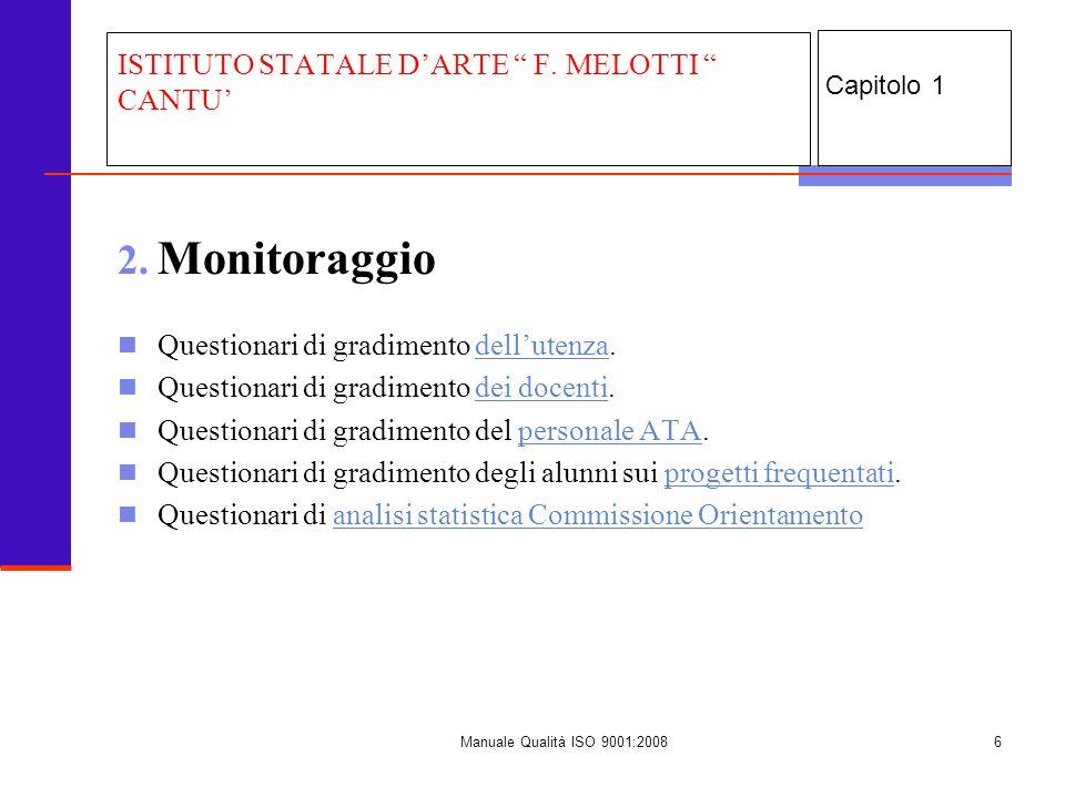 Manuale Qualità ISO 9001:20087 3.