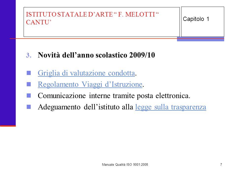 Manuale Qualità ISO 9001:20088 4.