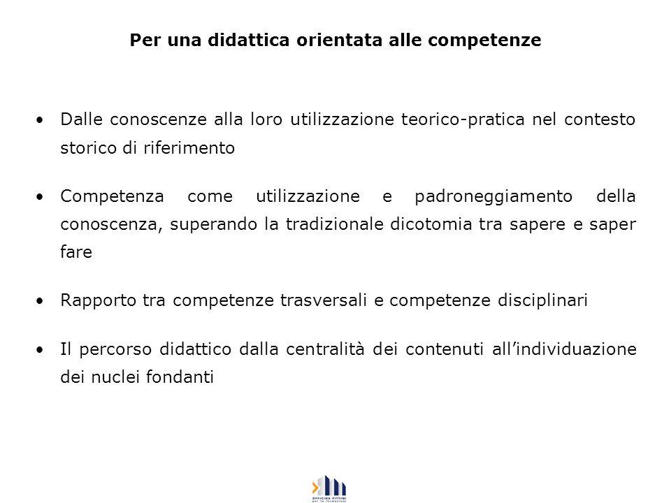 Esempi tratti da curricoli della secondaria di secondo grado (ITALIANO - A. Colombo)