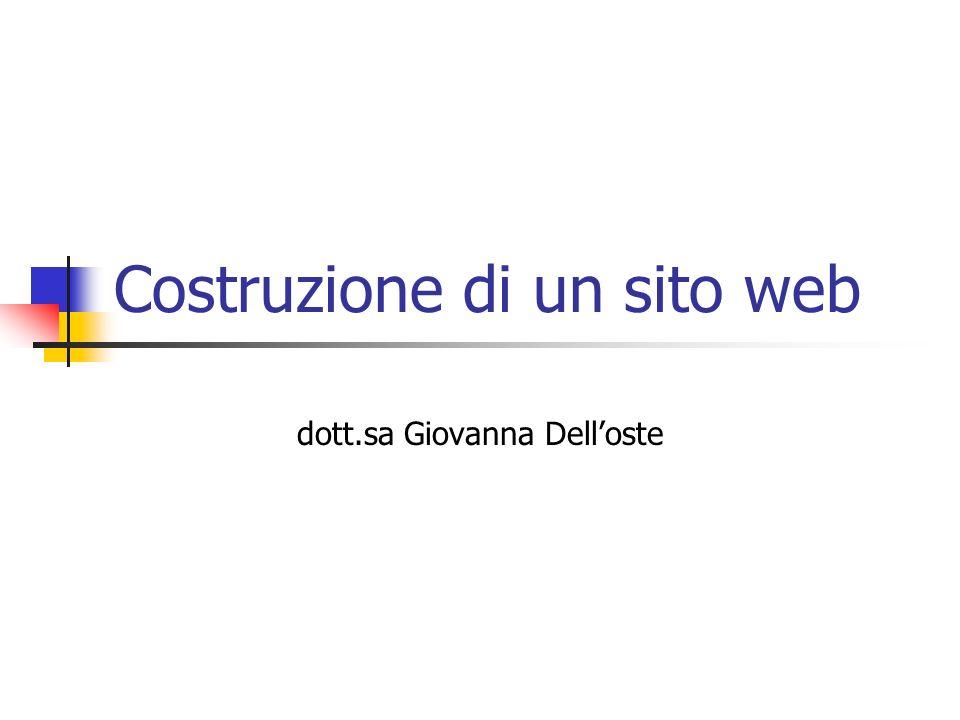 Costruzione di un sito web dott.sa Giovanna Delloste