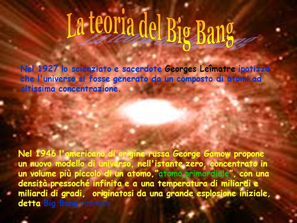 Nel 1927 lo scienziato e sacerdote Georges Leîmatre ipotizzò che l'universo si fosse generato da un composto di atomi ad altissima concentrazione. Nel