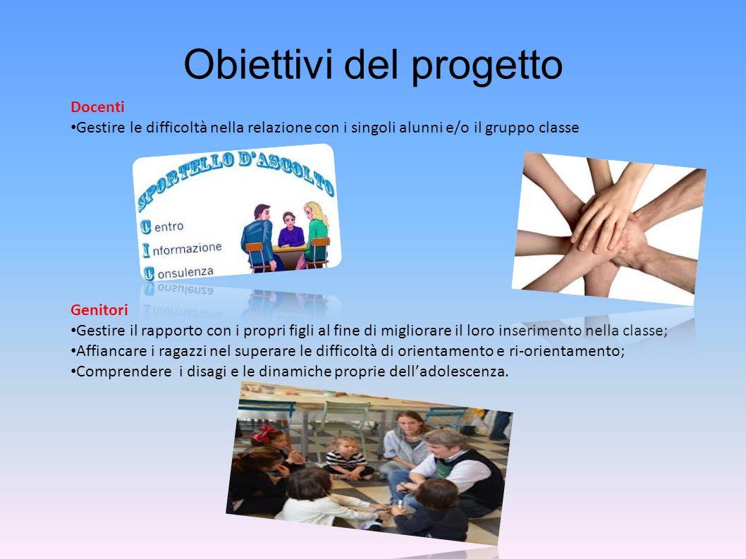 Metodologia adottata La metodologia si basa sul colloquio diretto tra lo studente e loperatore, nel rispetto della volontà.