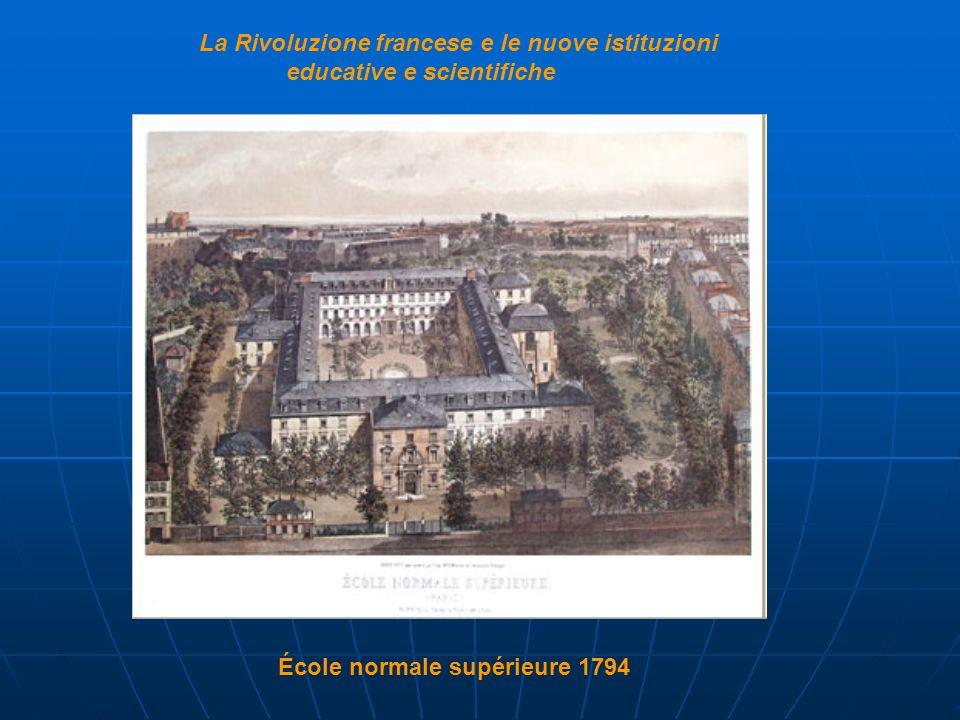 La Rivoluzione francese e le nuove istituzioni educative e scientifiche École normale supérieure 1794