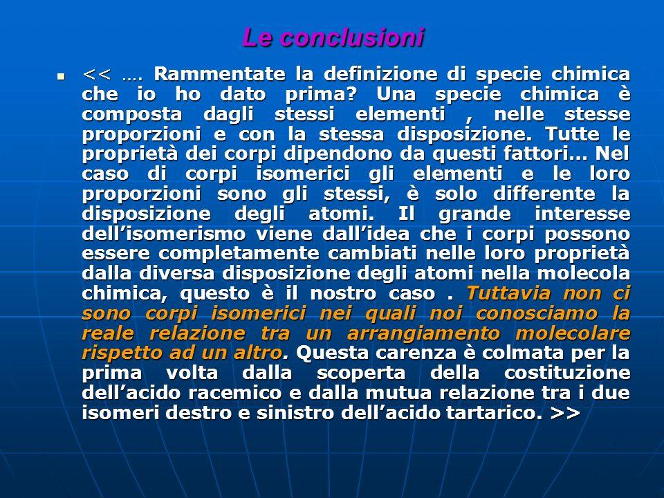 Le conclusioni > >