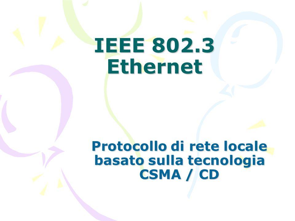 IEEE 802.3 Ethernet Protocollo di rete locale basato sulla tecnologia CSMA / CD