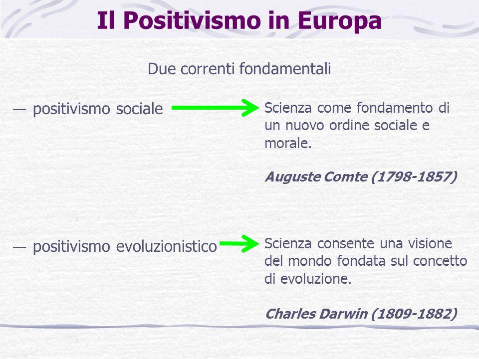 Letà del Decadentismo Il Positivismo aveva diffuso la fiducia nel fatto che la conoscenza delle leggi della natura e della società avrebbe agito per modificare gli equilibri sociali e far progredire la società.