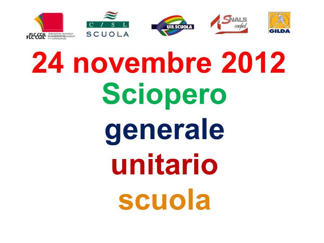 Sciopero generale unitario scuola 24 novembre 2012