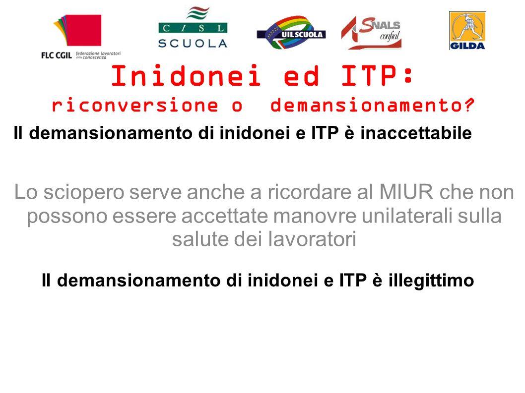 Inidonei ed ITP: riconversione o demansionamento.