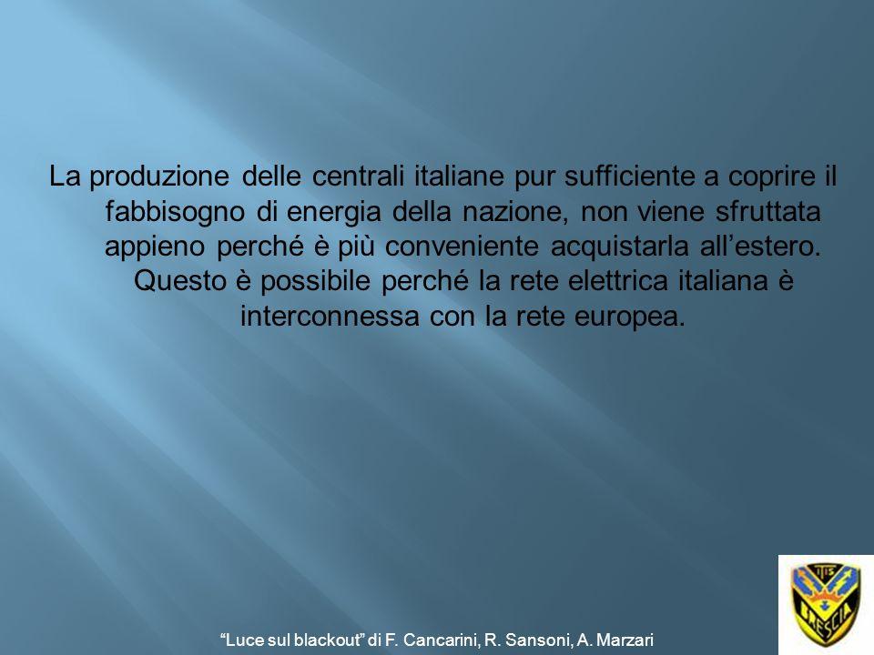 La produzione delle centrali italiane pur sufficiente a coprire il fabbisogno di energia della nazione, non viene sfruttata appieno perché è più conve