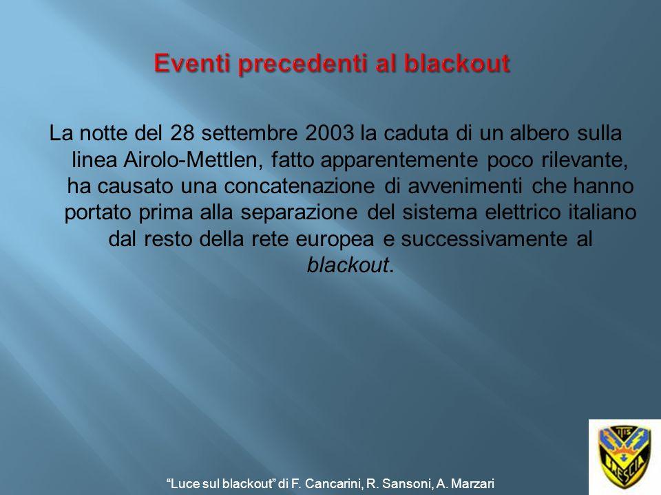 La notte del 28 settembre 2003 la caduta di un albero sulla linea Airolo-Mettlen, fatto apparentemente poco rilevante, ha causato una concatenazione d