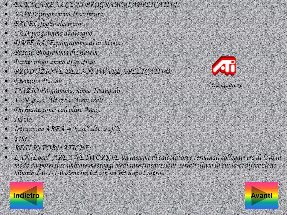 Principali fattori che influscono. prestazione di un computer. Un buon sistema Operativo (DOS, WINDOWS) adatto al computer che si ha a disposizione. U