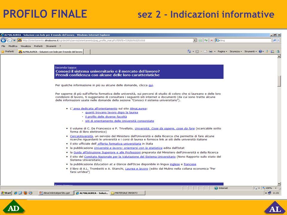 PROFILO FINALE sez 2 - Indicazioni informative