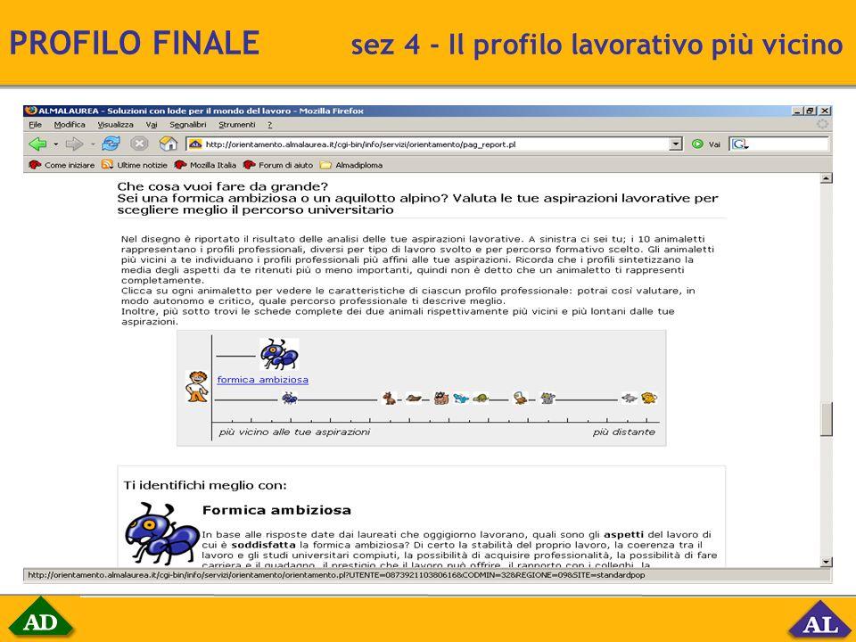 PROFILO FINALE sez 4 - Il profilo lavorativo più vicino
