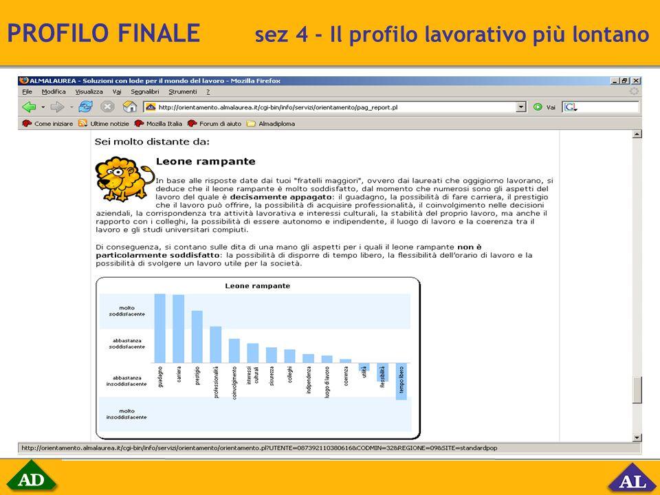 PROFILO FINALE sez 4 - Il profilo lavorativo più lontano