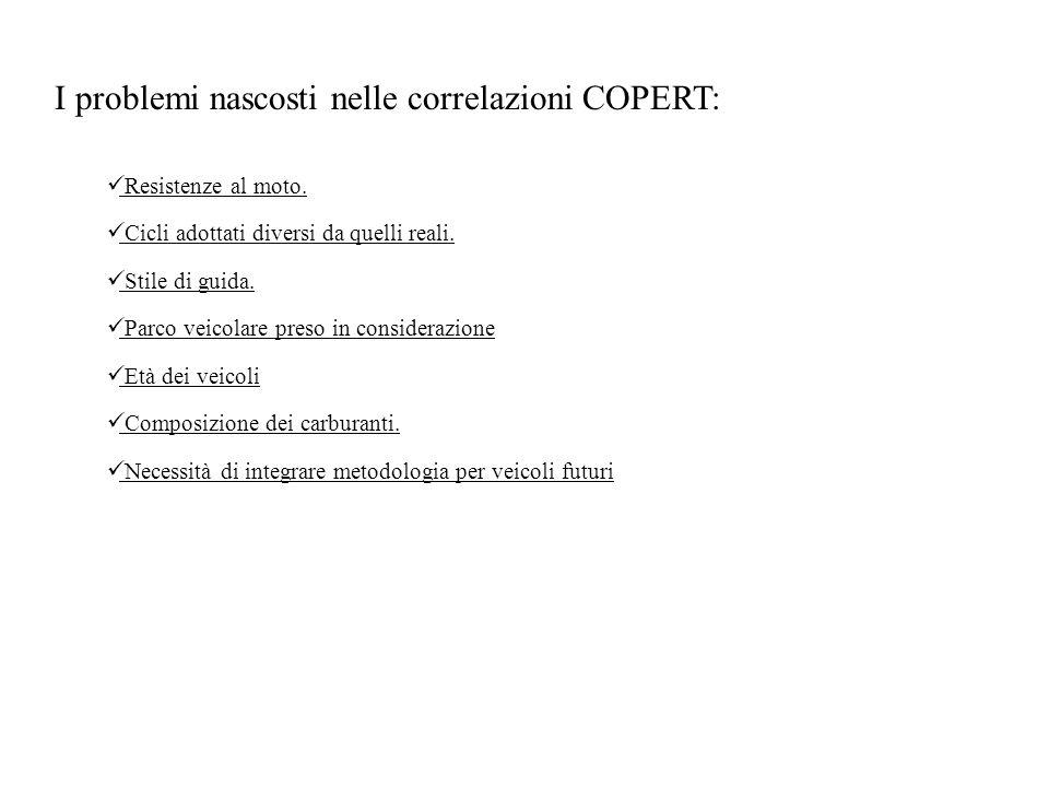 I problemi nascosti nelle correlazioni COPERT: Resistenze al moto.