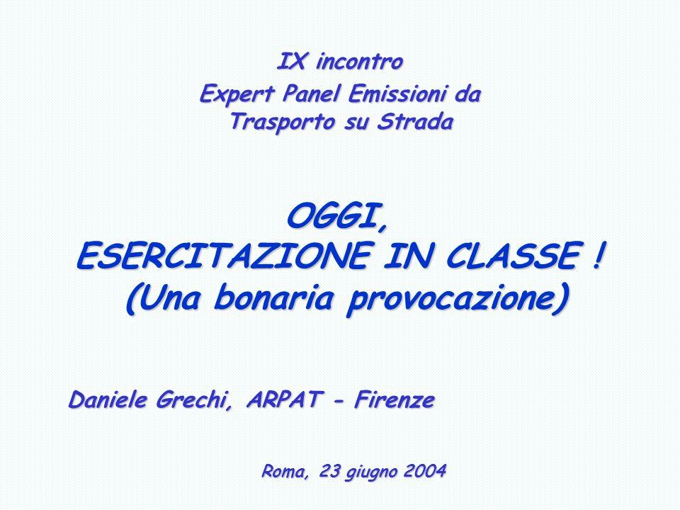 OGGI, ESERCITAZIONE IN CLASSE .