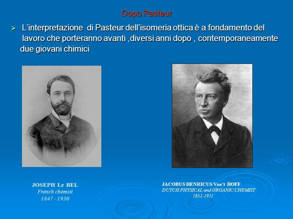 Dopo Pasteur Linterpretazione di Pasteur dellisomeria ottica è a fondamento del Linterpretazione di Pasteur dellisomeria ottica è a fondamento del lav