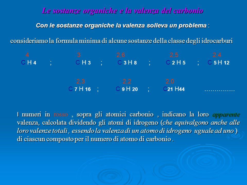 La valenza non solo varia da composto a composto, ma assume valori non interi.