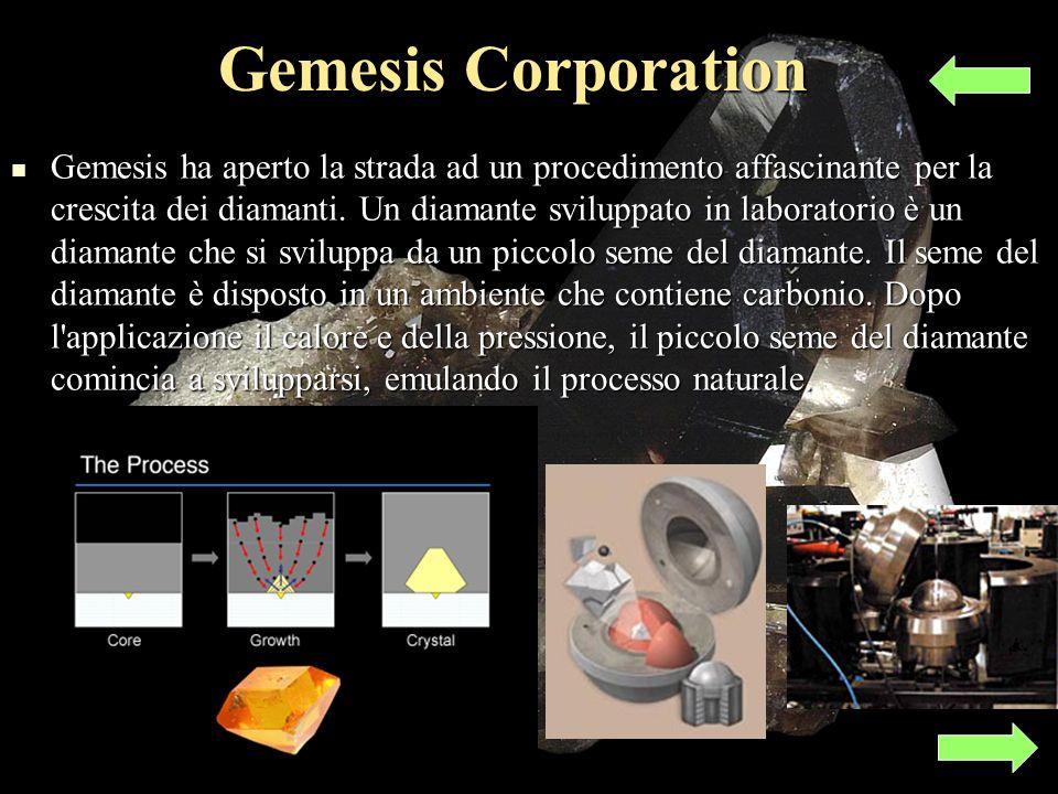 Gemesis Corporation Gemesis ha aperto la strada ad un procedimento affascinante per la crescita dei diamanti.