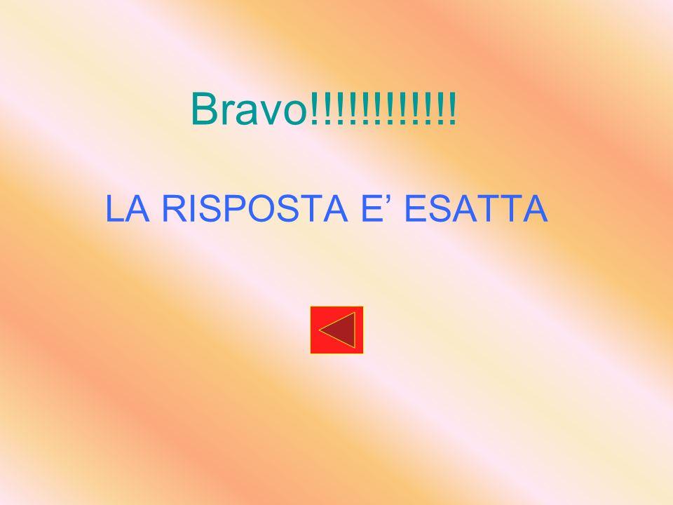 Bravo!!!!!!!!!!!! LA RISPOSTA E ESATTA