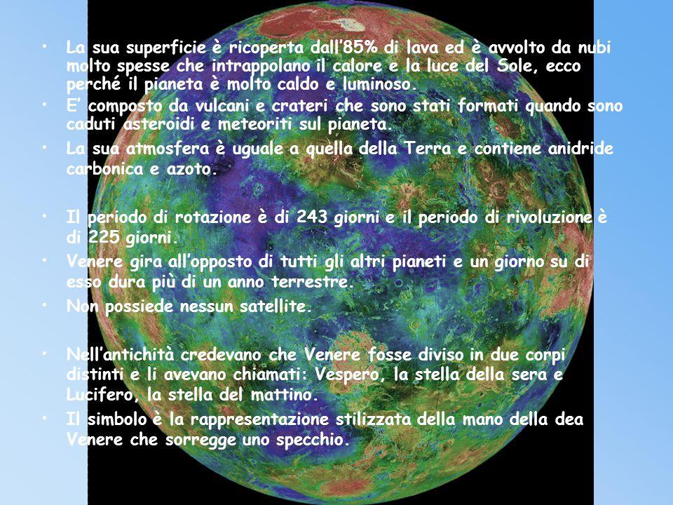 Venere è il secondo pianeta in ordine di distanza dal sole ed è il più vicino alla Terra. È loggetto più brillante e visibile nel cielo al crepuscolo