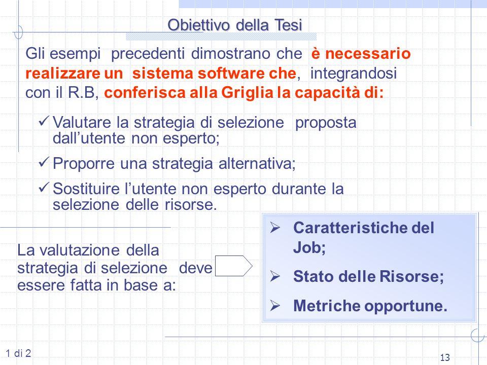 13 Obiettivo della Tesi Gli esempi precedenti dimostrano che è necessario realizzare un sistema software che, integrandosi con il R.B, conferisca alla