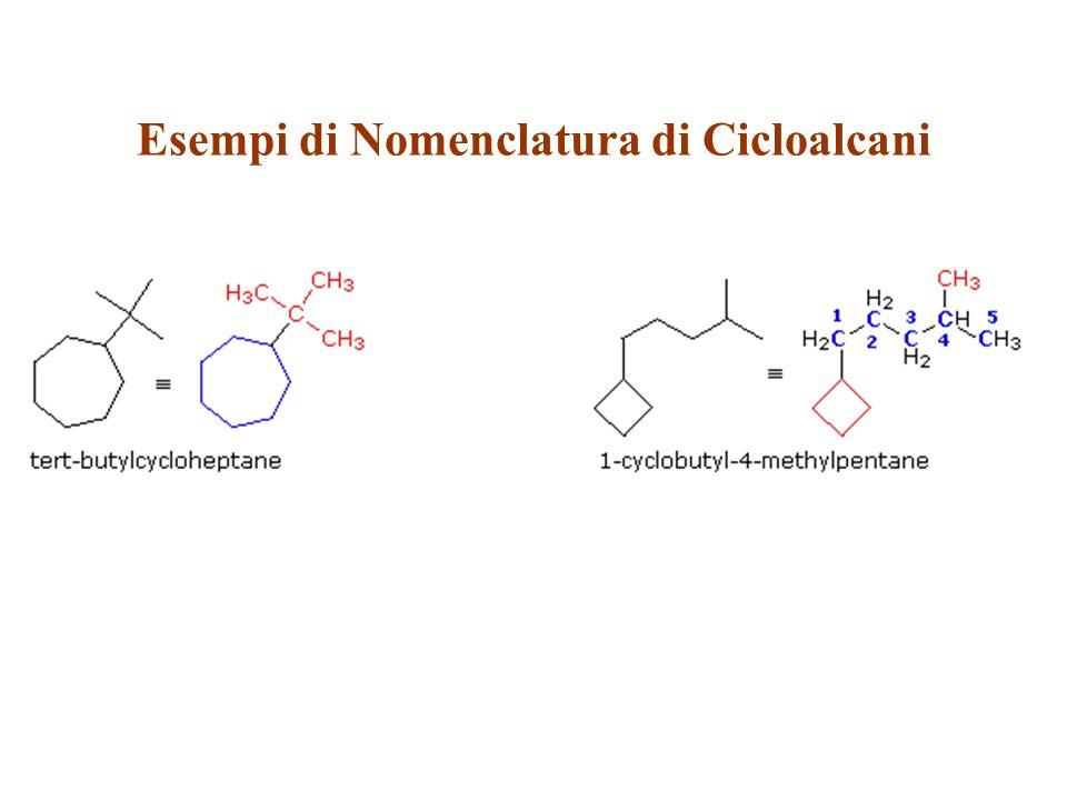 Esempi di Nomenclatura di Cicloalcani
