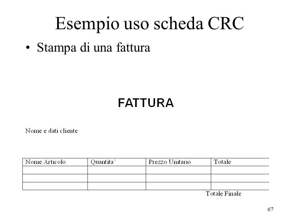 67 Esempio uso scheda CRC Stampa di una fattura