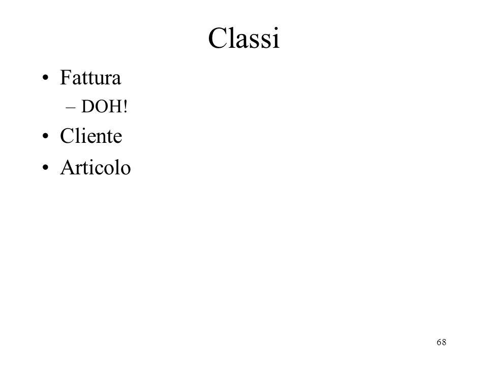 68 Classi Fattura –DOH! Cliente Articolo