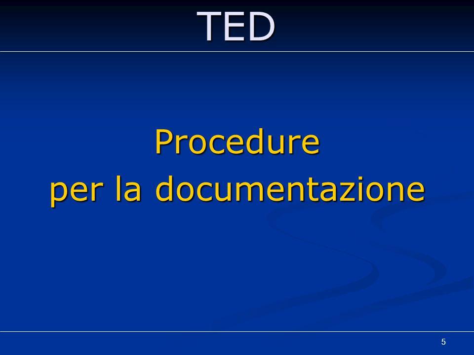 5TEDProcedure per la documentazione