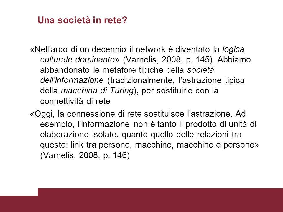 Una società in rete.