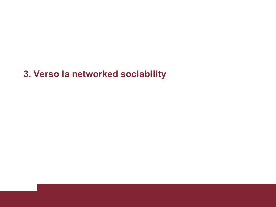 3. Verso la networked sociability