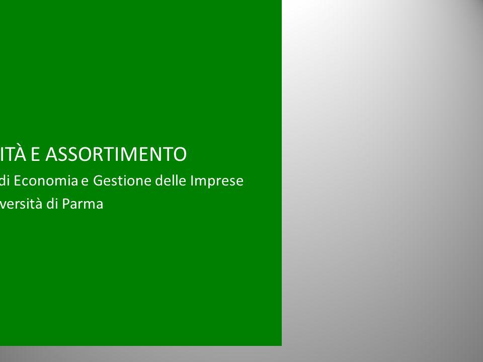 SOSTENIBILITÀ E ASSORTIMENTO Guido Cristini, Ordinario di Economia e Gestione delle Imprese Università di Parma