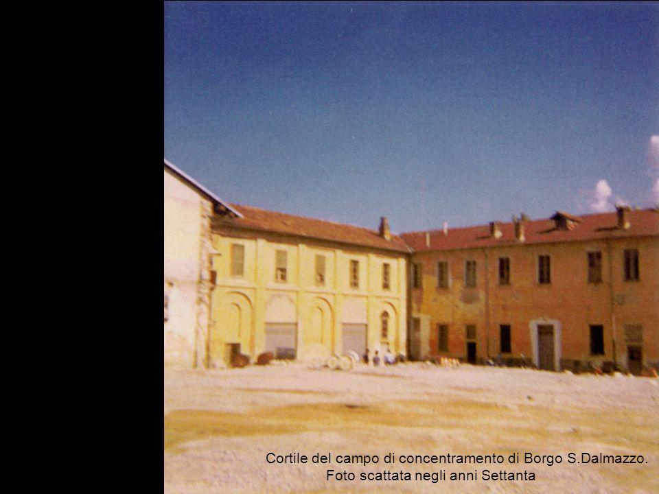 Cortile del campo di concentramento di Borgo S.Dalmazzo. Foto scattata negli anni Settanta