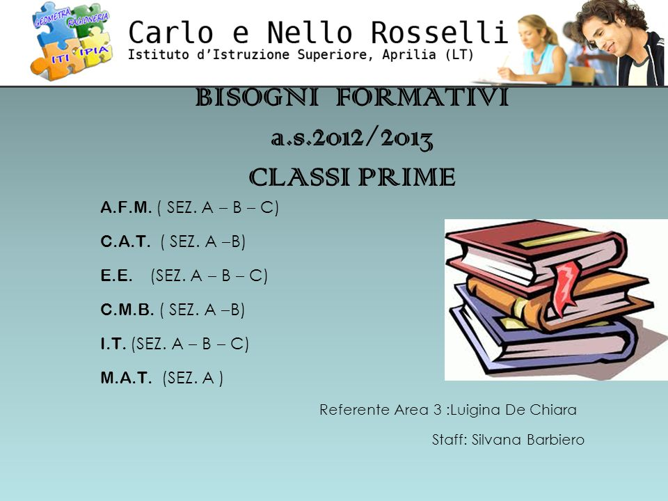 BISOGNI FORMATIVI a.s.2012/2013 CLASSI PRIME A.F.M.