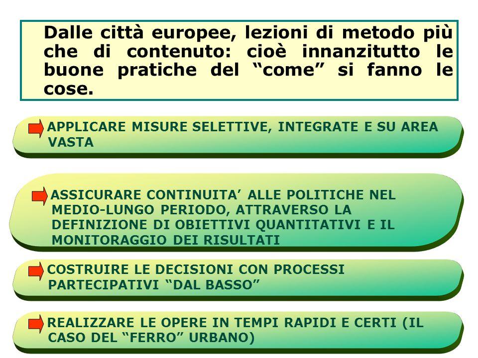 1.APPLICARE MISURE SELETTIVE, INTEGRATE E SU AREA VASTA 2.