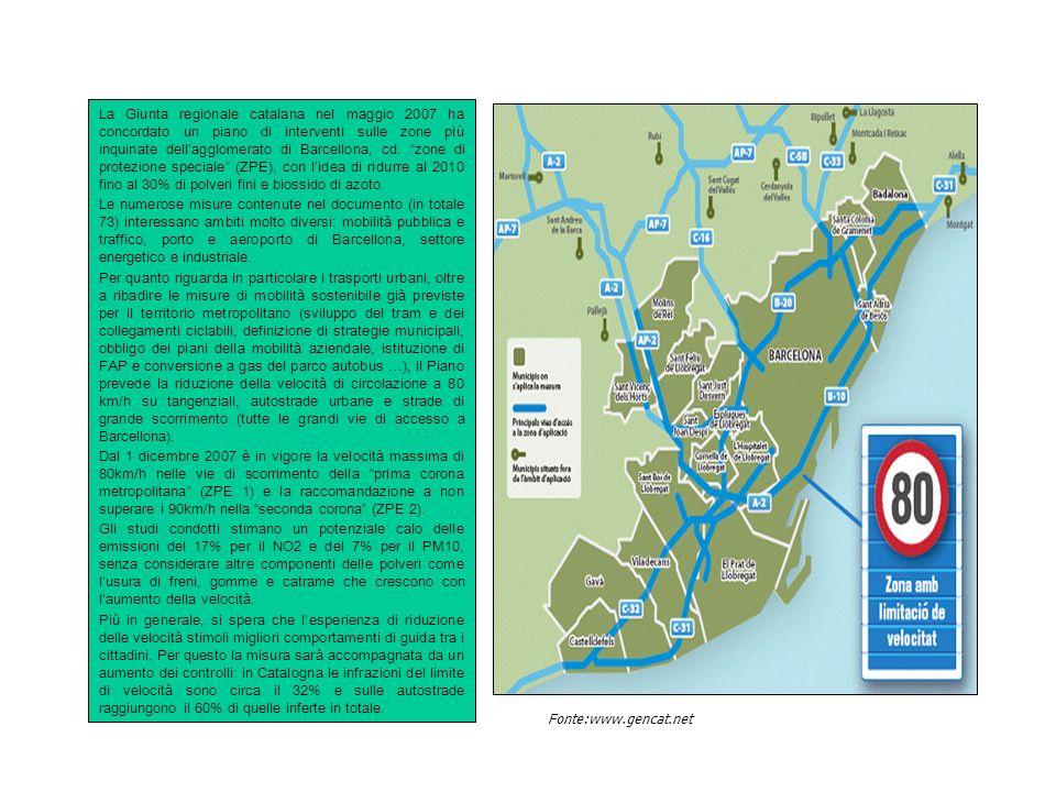 Piani/strategie operativi su dimensioni vaste: la Low Emission Zone (LEZ) di Londra Mayors Air Quality Strategy - Greater London (aggiornamento al 2006 per la componente trasporti) 1.579 kmq e 7,4 milioni di ab.