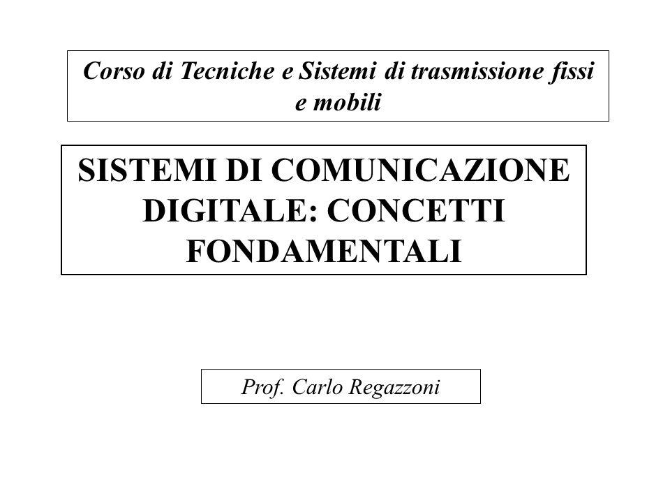 SISTEMI DI COMUNICAZIONE DIGITALE: CONCETTI FONDAMENTALI Corso di Tecniche e Sistemi di trasmissione fissi e mobili Prof. Carlo Regazzoni
