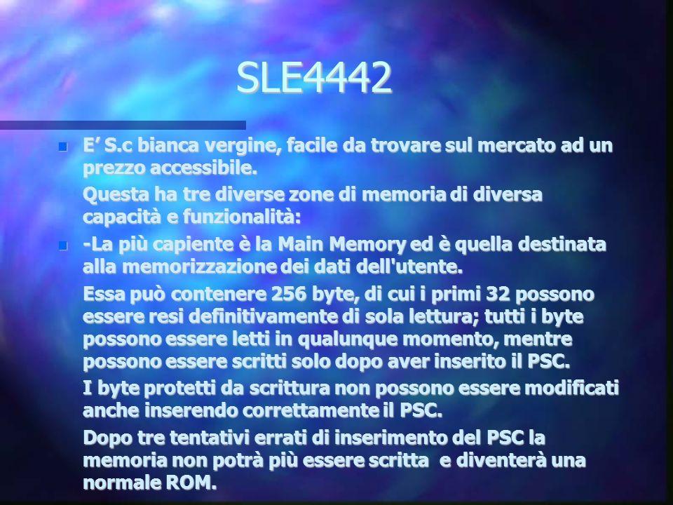 SLE4442 E S.c bianca vergine, facile da trovare sul mercato ad un prezzo accessibile.