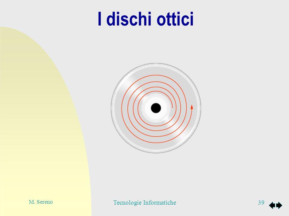 I dischi ottici 40Tecnologie Informatiche Per quanto riguarda la lettura, i bit ottici sono letti da una testina che emette un fascio di luce (laser) che, durante la rotazione, colpisce le singole aree.