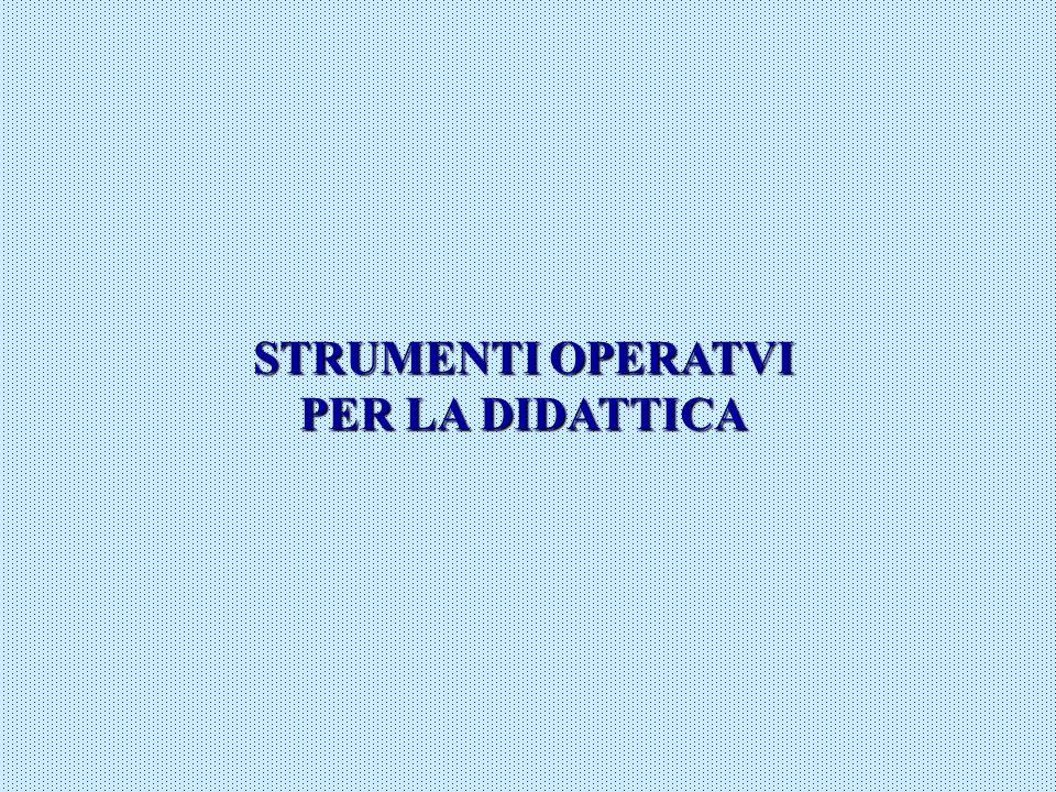 STRUMENTI OPERATVI PER LA DIDATTICA