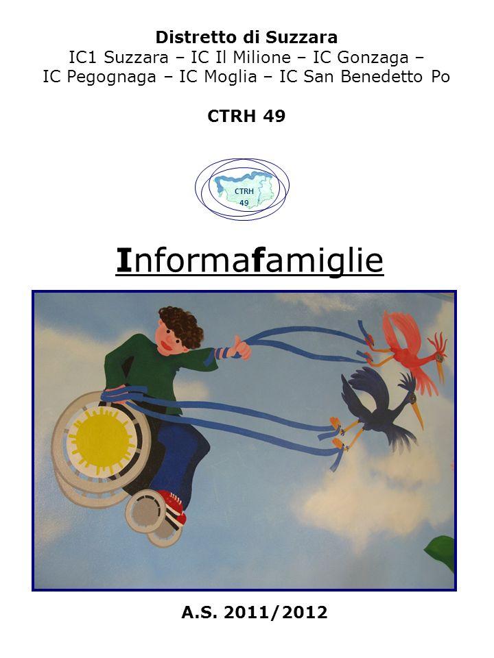 Distretto di Suzzara IC1 Suzzara – IC Il Milione – IC Gonzaga – IC Pegognaga – IC Moglia – IC San Benedetto Po CTRH 49 Informafamiglie CTRH 49 A.S.