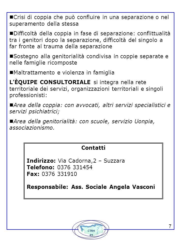 138 SERVIZIO TUTELA MINORI Il SERVIZIO TUTELA MINORI è un servizio finalizzato alla tutela e alla cura dei minori e delle loro famiglie.