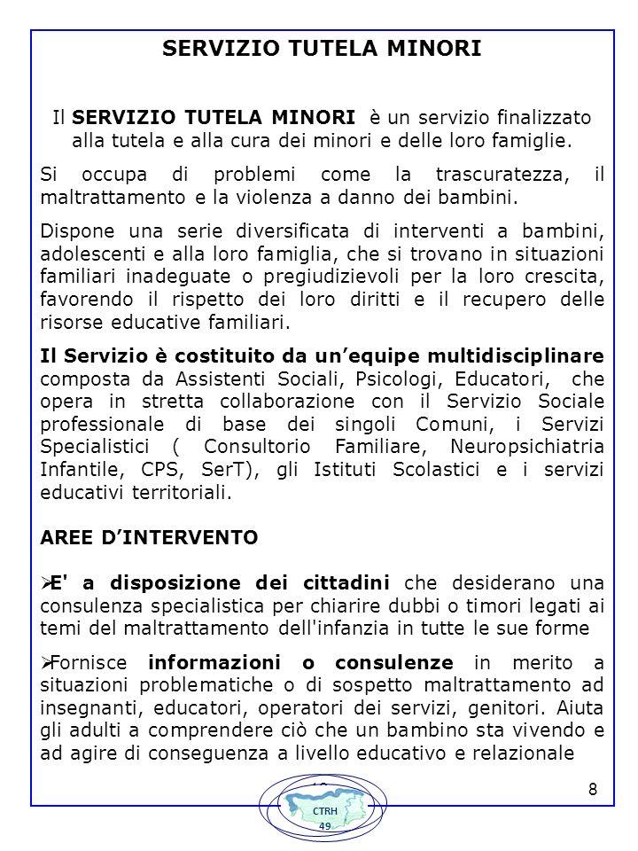 139 Collabora con la magistratura e con i Servizi Sociali dei Comuni del Piano di Zona: Suzzara, Gonzaga, Moglia, Motteggiana, Pegognaga, S.