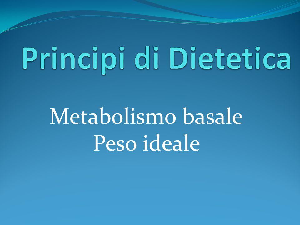 Metabolismo basale Peso ideale