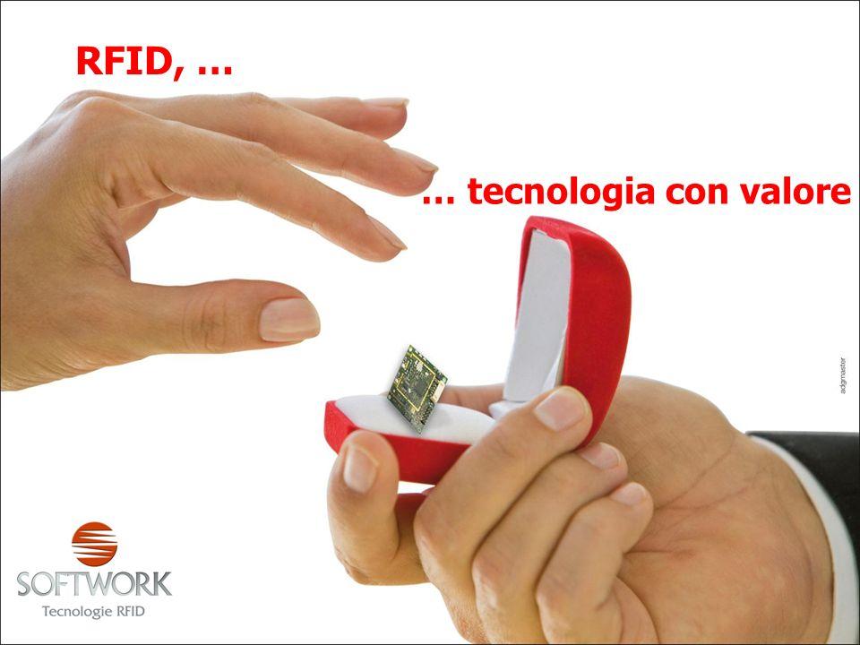 … tecnologia con valore RFID, …
