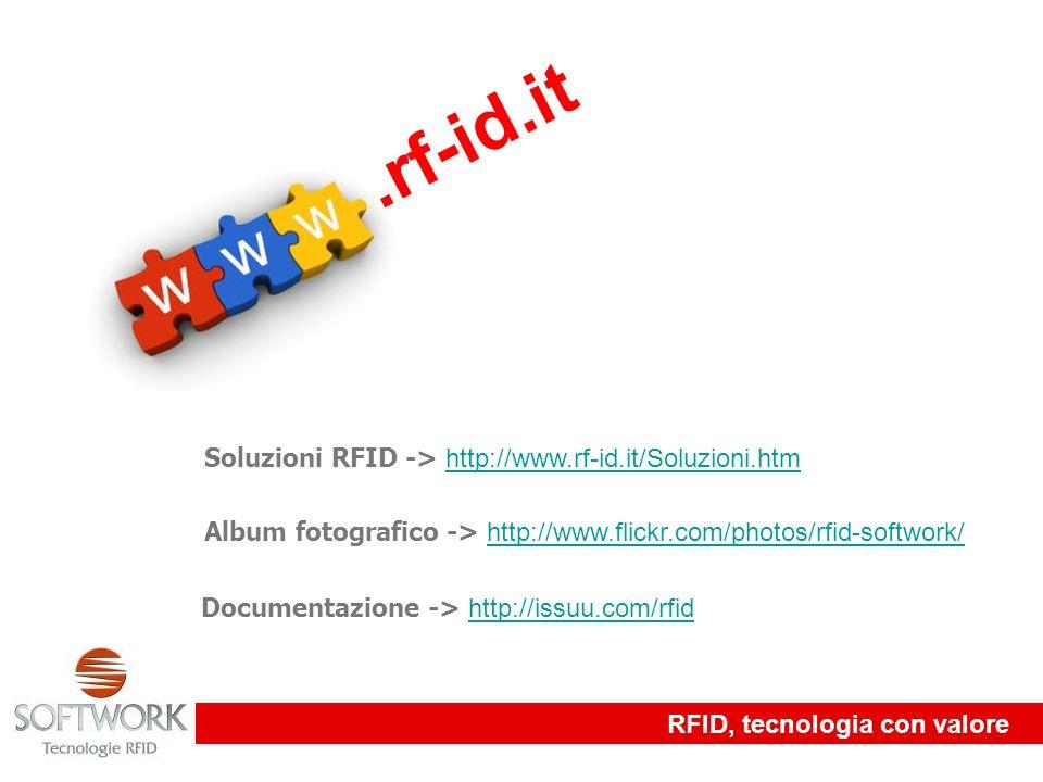 RFID, tecnologia con valore.rf-id.it Soluzioni RFID -> http://www.rf-id.it/Soluzioni.htm http://www.rf-id.it/Soluzioni.htm Album fotografico -> http:/