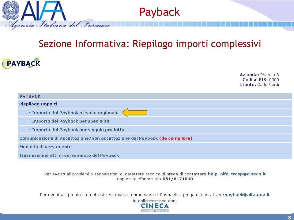 19 Opzione B) lAzienda comunica l accettazione totale del payback