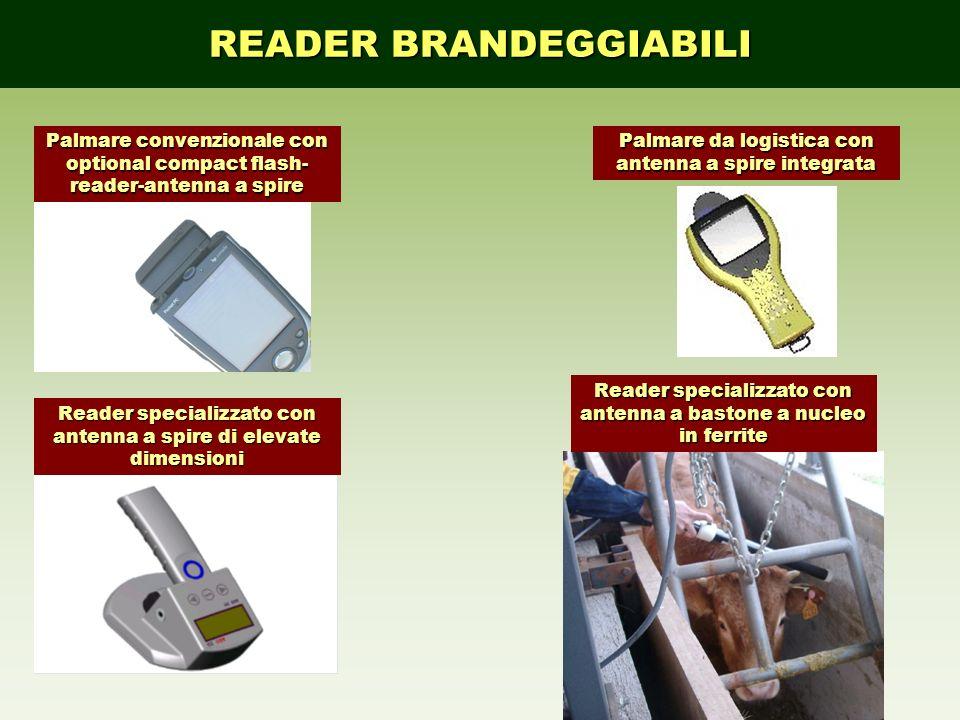 READER BRANDEGGIABILI Palmare convenzionale con optional compact flash- reader-antenna a spire Palmare da logistica con antenna a spire integrata Read