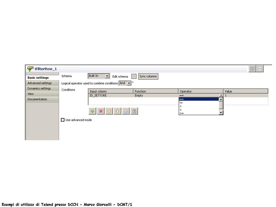 I fogli xsl assumono nomi in base a valori letti in tabella (tecnica Delli Priscoli)